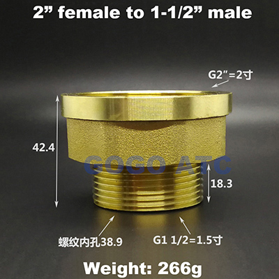 2 inch to 1-1-2-1