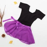 Girls Ballet Gymnastics Leotard With Separate Skirt Dance Set Bodysuit Dance Costume Tenis Infantil Saias Ballerine
