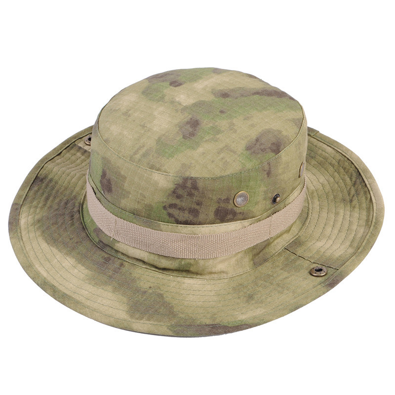 4d6bafad6bc Airsoft Tactical Bucket Hat Men Camo Bucket Cap Outdoor Sports Wide Brim Boonie  Hat Military Camping Hiking Fishing Caps Mens