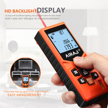 AIRAJ Handheld Range Finder Laser High Precision Infrared Measuring Instrument Room Electronic Ruler