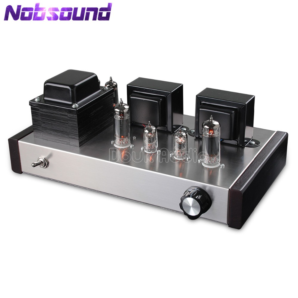 Nobsound HiFi 6J1+6P1 Vacuum Tube Amplifier Stereo Class A Single-ended Power Amp music hall 6n8p 6p3p hifi single ended pure class a tube amp vacuum power amplifier diy kit 100