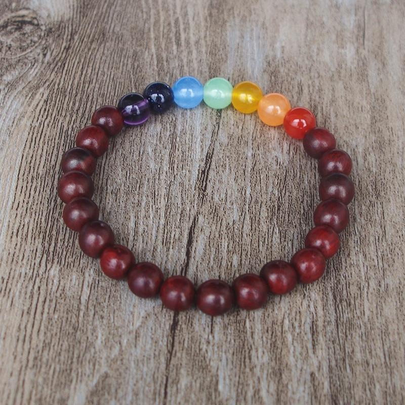 7 Chakra Perles Yoga Mala Bracelets élasticité Bijoux bracelet cadeau artisanal