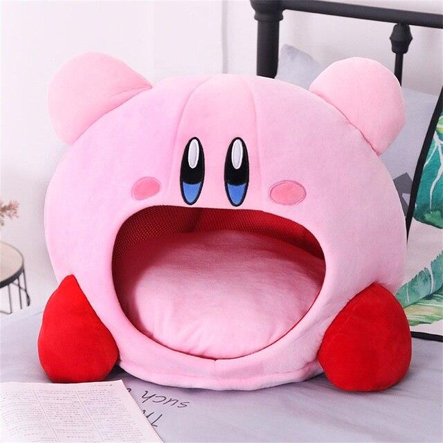 Tronzo 50cm Kirby Plush Soft Sleep Pillow Cap Kawaii Anime Game Kirby Sleep Pillow Cushion Soft Pet House Doll Toys Dropship