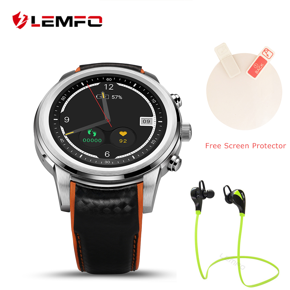 LEMFO Watch phone LEM5 Android 5.1 OLED Screen 1GB+8GB Support SIM card GPS WiFi 3g Bluetooth Heart Rate for Android iOS