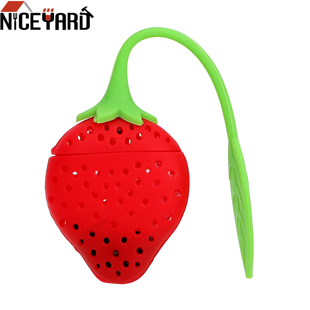 NICEYARD Tea Leaf Strainer High Temperature Resistance Candy Filter Bag Diffuser Herbal Spice Silicone Strawberry Filter Tools