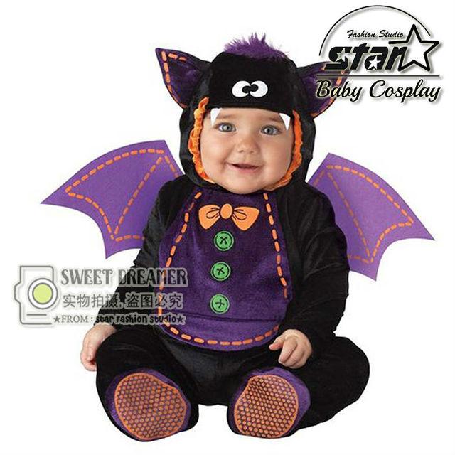 e06d5ec100ad Pokemon Go Newborn Baby Jumpsuit Bat Monster Little Devil Halloween ...