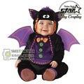 Pokemon Ir Bebê Recém-nascido Macacão Monstro Bat Diabinho Halloween Cosplay Carnaval Engraçado Da Criança Roupas de Palco Conjunto