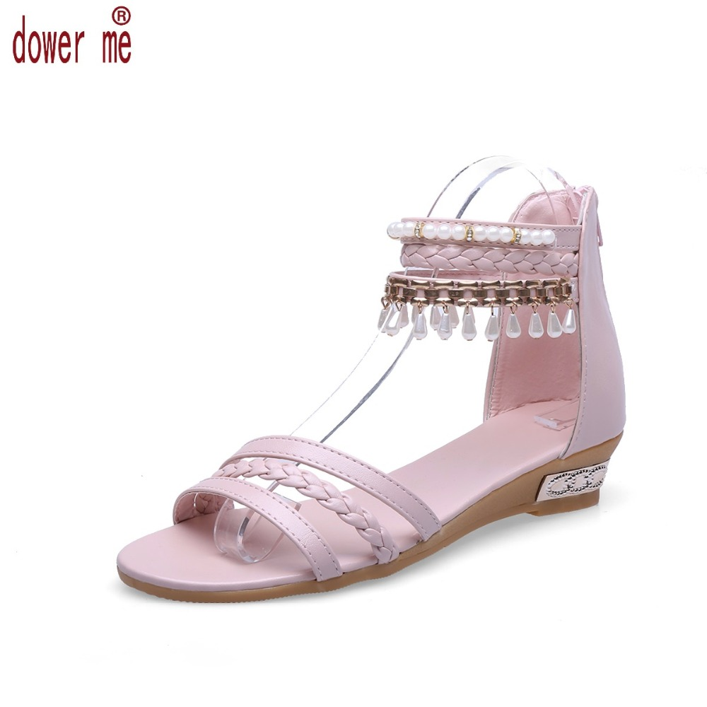 Free Shipping Hot Summer Shoes Woman 2017 Style Female Sandals High Wedges Platform Flats Shoes Open Toe Casual Shoes 35-39 phyanic 2017 gladiator sandals gold silver shoes woman summer platform wedges glitters creepers casual women shoes phy3323