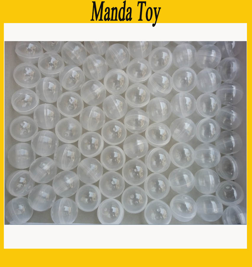 32mm Clear Plastic Capsule Toy Capsules For Vending Empty Plastic Toys Ball 100pcs/Lot Free Shipping