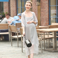 Long Pregnancy Maternity Women Summer Dress Clothes Roupa Gestantes Sheer Maxi Formal Maternity Dress Tunic 702193