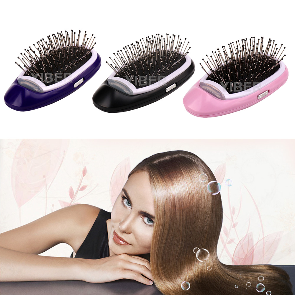 Ionic Hair Brush Magic Electric Hair Comb Negative Ions Hairbrush Hair Modeling Styling Comb No More Frizz Hair Combs Dropship(China)