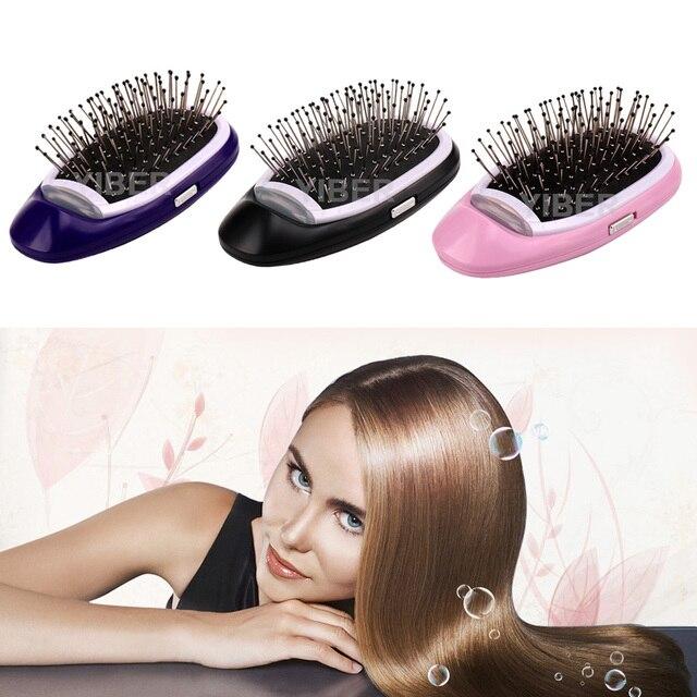 Iónico pelo cepillo magia eléctrica peine del pelo de los iones negativos cepillo de pelo de estilo peine No más Frizz pelo peines Dropship