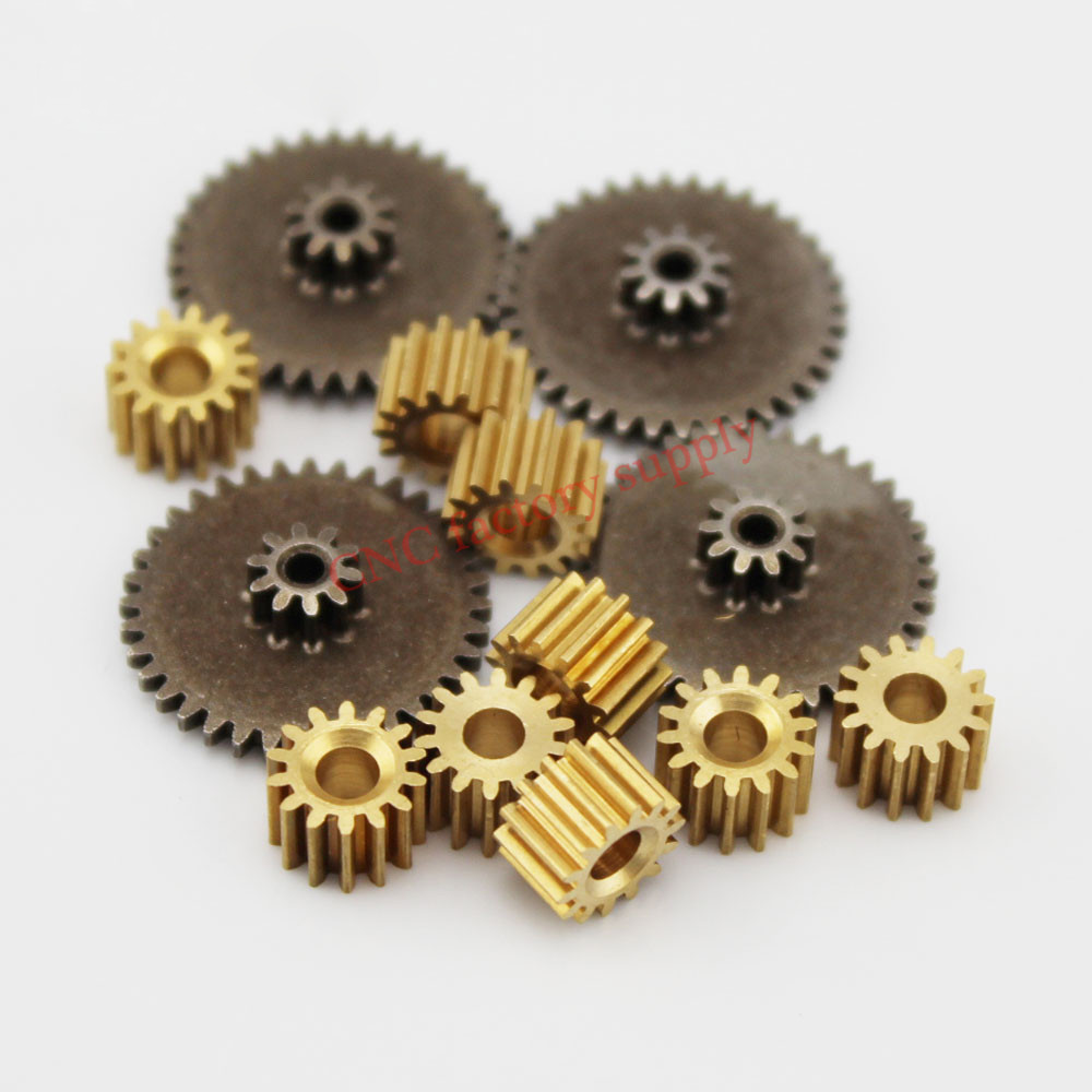 Hot metal gears 0.5 modulus brass reduction gears for principal axis gear DIY Micro Motor Gear Box Mating accessories mating mind
