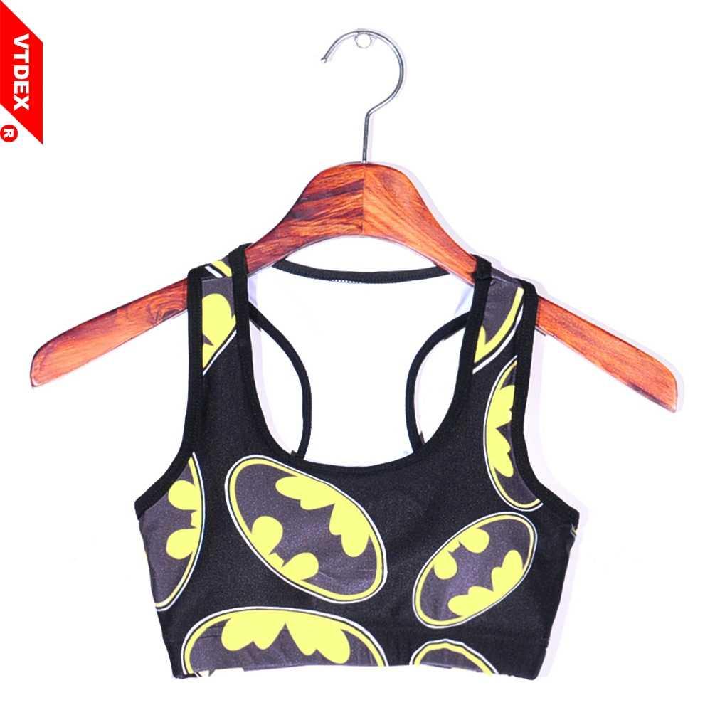 14ba41719f ... 2018 Batman Sports Bras Top Deportivo Mujer Cropped Breathable Women  Yoga Bra Tanks GYM Sexy Push ...