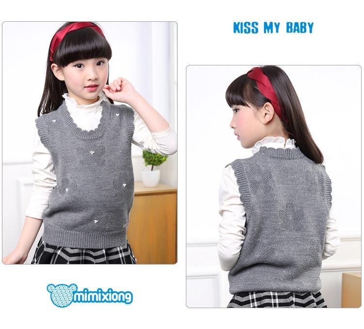 Meisjes Knit Vest Rode Bloem Haak Peuter Infant Truien Truien Herfst