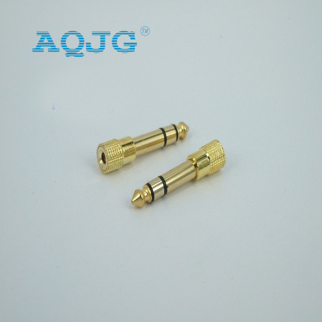 1Pcs 6 5mm to 3 5mm Male to Female Jack Plus Stereo Headphone Audio Adapter 6