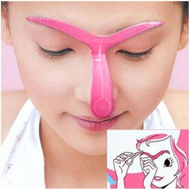 2 Pcs Eyebrow Stencils Shaping Grooming Eye Brow Make Up Model Template Reusable Design Eyebrows Styling Tool 2 Type 1
