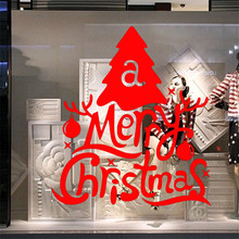 Free Shipping 2016  Christmas Day Wall Sticker Glass Stickers Home Decorartion