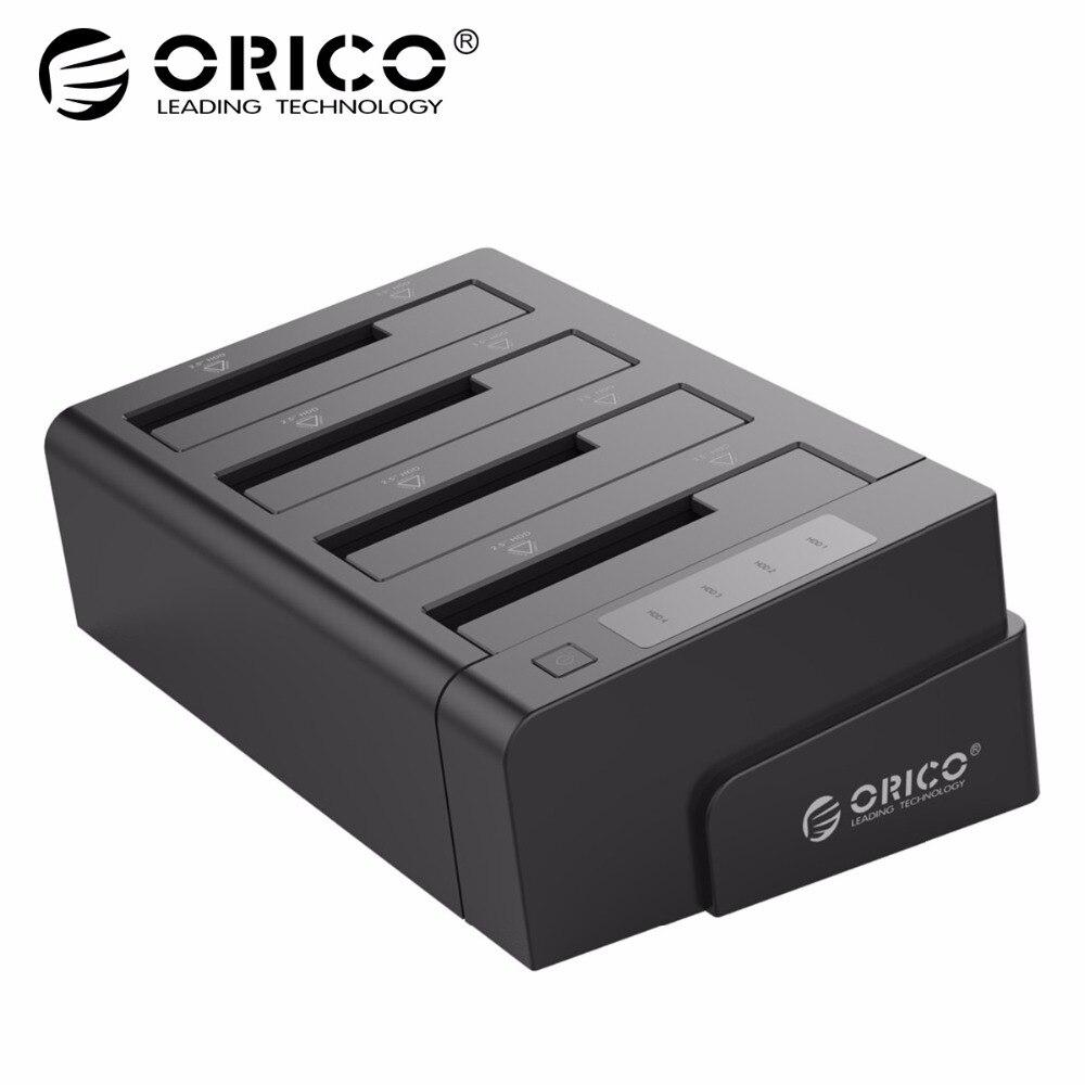 ORICO 6648US3-C USB 3.0 2.5 & 3.5 polegada SATA Doca Disco Rígido Externo 4-Bay Off-line Clone hdd Docking Station-Preto
