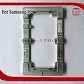 Molde alinhamento de precisão de metal de alumínio para samsung galaxy a7 tela refurbish quebrado deformação vidro alto quadro fixador de moldes