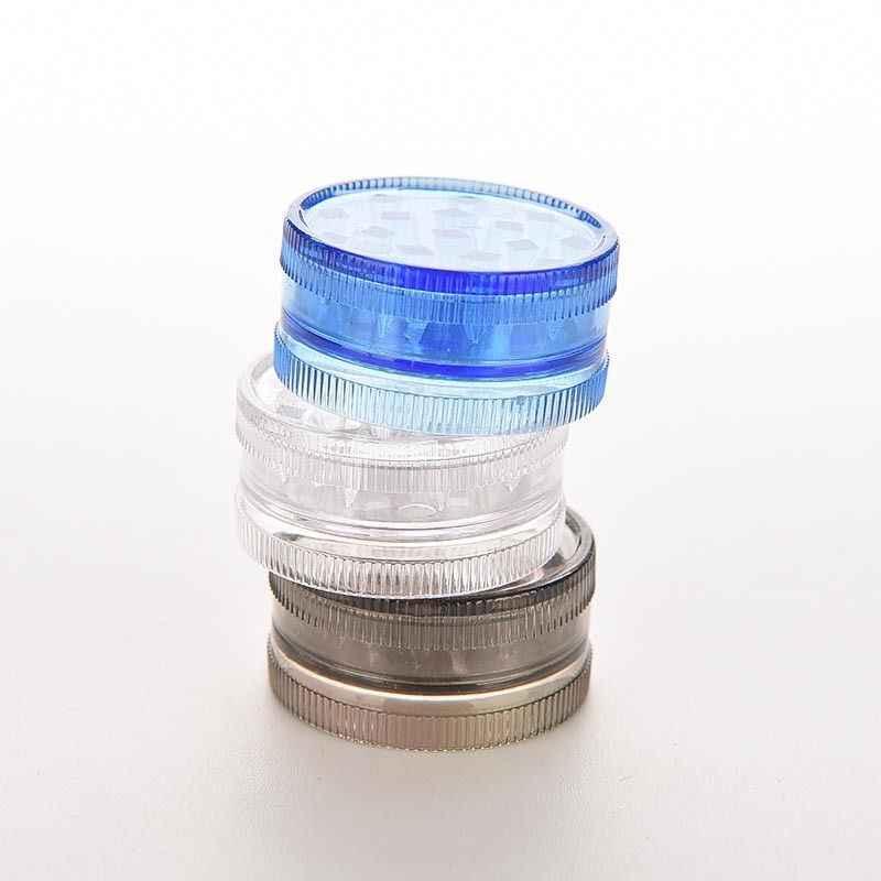 2 طبقة شكل دائري البلاستيك الصلب العشبية عشب السيجار التبغ طاحونة الدخان التوابل كسارة اليد مولر المطبخ استخدام