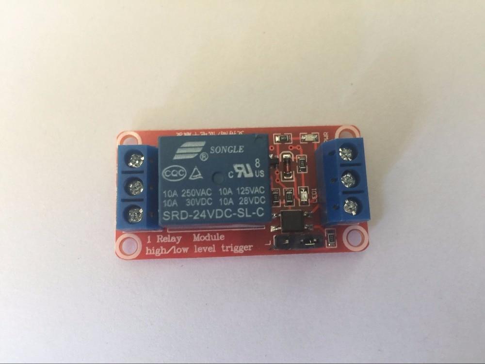 1 Kanal 24 V Bord Schutz Relais Modul Mit Optokoppler Hohe Unterstützung Und Niedrigen Arduino Reise Ebene