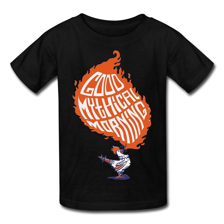 Gaowee Youth Boys/Girls Good Mythical Morning On Pinterest Logo T-Shirt - Black Funny Cotton T Shirt