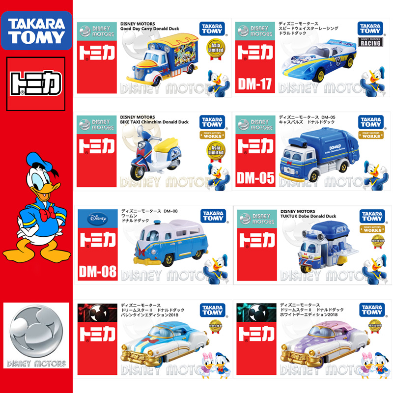 Takara Tomy Disney Motors Goodday Carry Donald Duck Special Diecast toy car new
