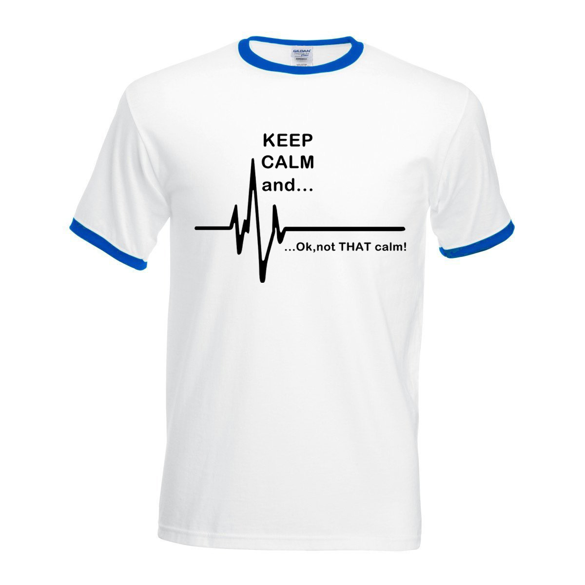 contrast color t-shirt 2017 Keep Calm and...Not That Calm tops Funny man Heart Rate camisetas men Short Sleeve hit color tshirts
