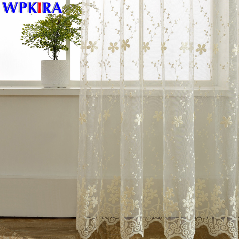 Aliexpresscom  Buy Lace Curtain Sheer Embroidered Tulle Curtains Living Room Bedroom Window