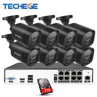 8CH CCTV Surveillance Kit 4MP Security Camera System 8CH NVR H 265 Max 4K Output Video