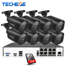 8CH CCTV Surveillance Kit 4MP Security Camera System 8CH NVR H.265 Max 4 Karat Ausgang 8 stücke 4MP Ip-kamera Bewegungserkennung