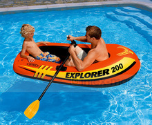 Inflatable Kayak Fishing Boat Paddles Oars Swim Pool Funny Floats Toys Air Mattress LifeBoat swimming pool accessories