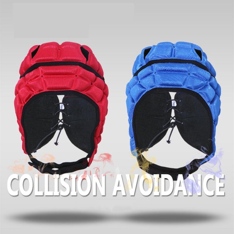 HOT Children Professional Football Goalkeeper Helmet Kids Soccer Cap Headguard Goalie Roller Child Skating Hat Head Protector