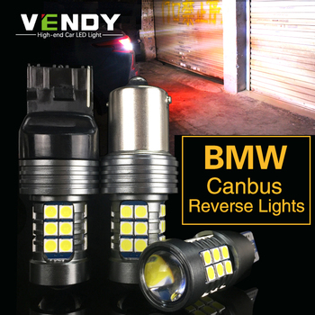 1pcs Car LED Reverse Light Canbus W16W T15 P21W BA15S W21W For BMW E91 E92 E39 E38 E34 F11 E60 E84 E87 F20 E70 e46 e90 x5 x3 e36 image