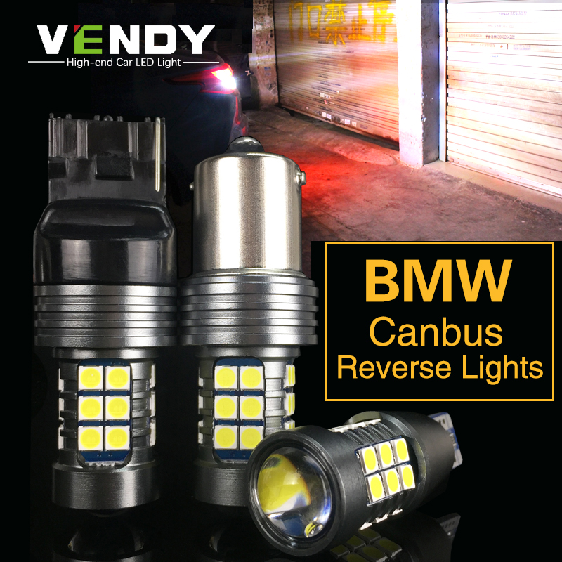 1pcs Car LED Reverse Light Canbus W16W T15 P21W BA15S W21W For <font><b>BMW</b></font> E91 E92 E39 E38 E34 F11 <font><b>E60</b></font> E84 E87 F20 E70 e46 e90 x5 x3 e36 image
