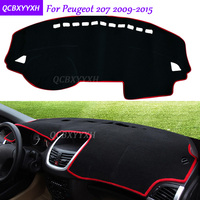 For Peugeot 207 2009 2015 Dashboard Mat Protective Interior Photophobism Pad Shade Cushion Car Styling Auto
