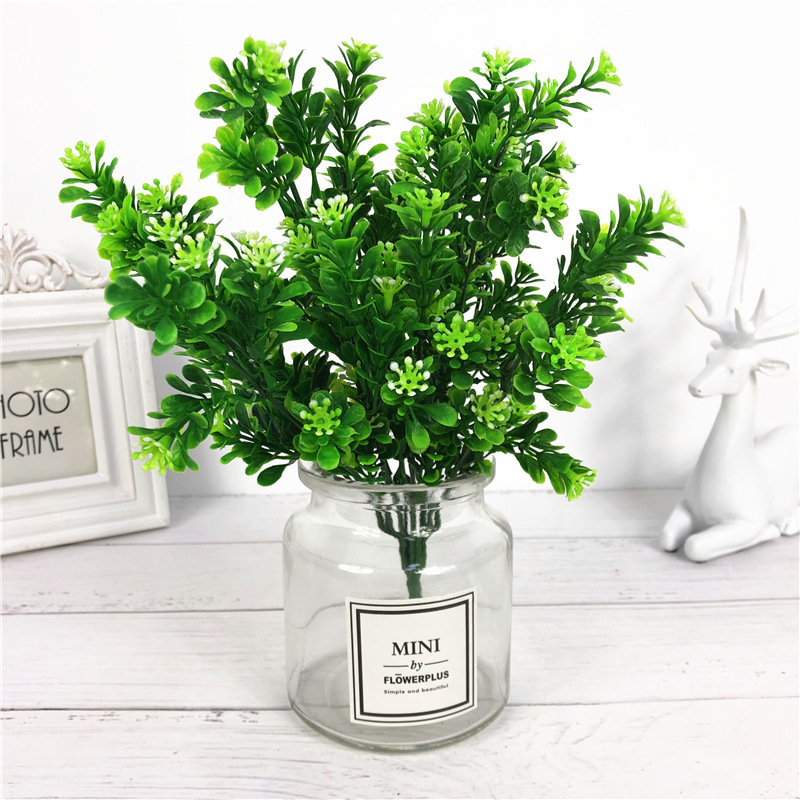 Artificial willow bouquet fake leaves for Home Christmas wedding decoration jugle party vine faux foliage plants wreath