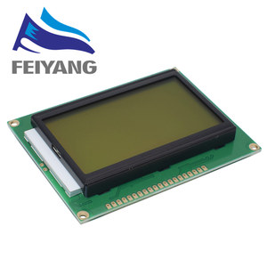 Image 3 - 10pcs 128*64 DOTS LCD module 5V blue screen 12864 LCD with backlight ST7920 Parallel port LCD12864