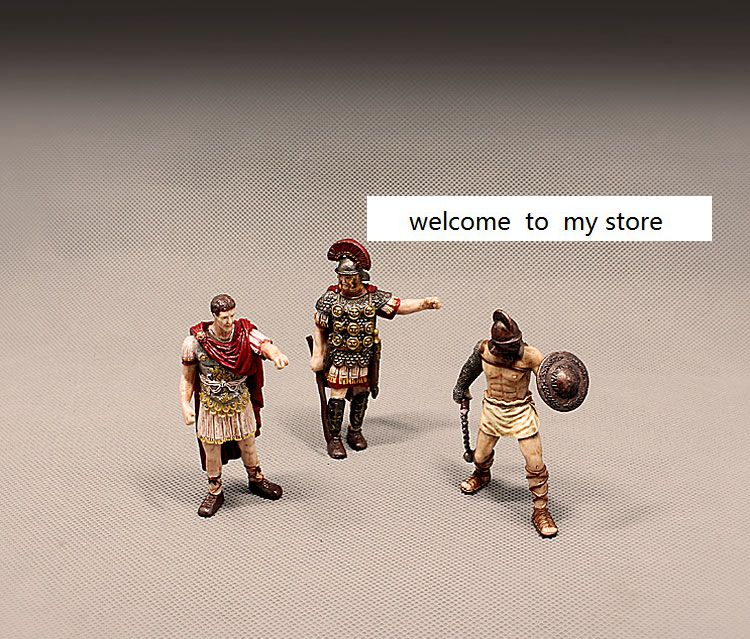 pvc  figure Doll model toy Ancient European Dolls Ancient Roman Gladiator Caesar Great Model Decoration 3pcs/set handmade chinese ancient doll tang beauty princess pingyang 1 6 bjd dolls 12 jointed doll toy for girl christmas gift brinquedo