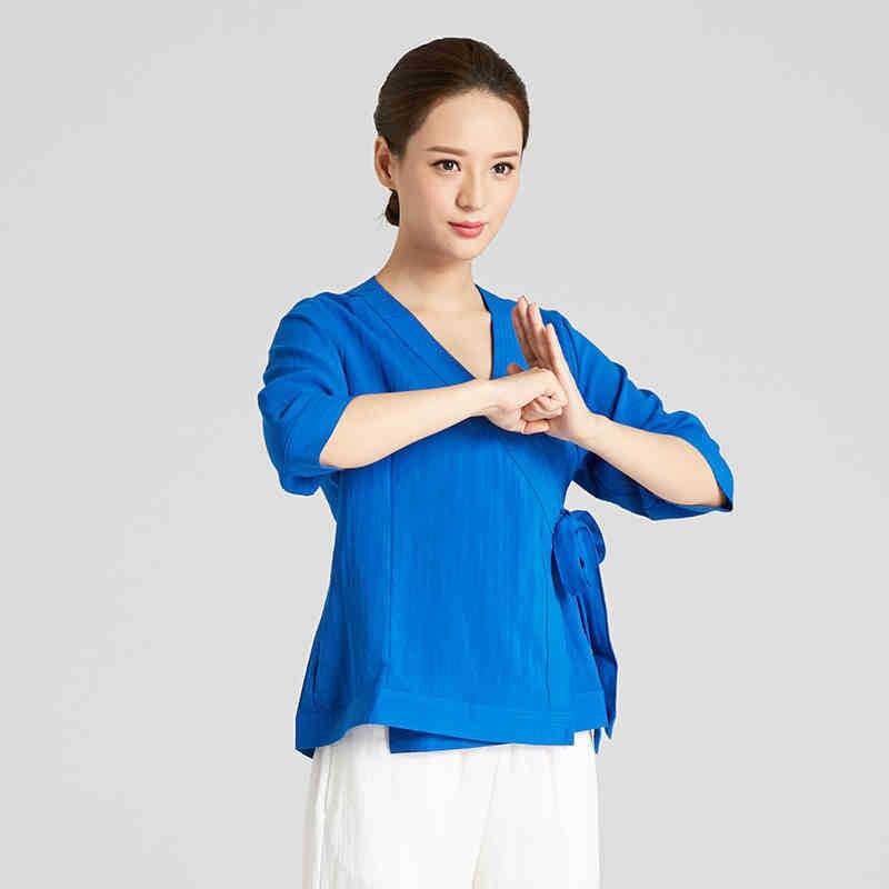 Linen Kung Fu Clothes Top Grade Women Tai Chi Clothing Martial Arts Uniform Wudang wushu suit Include Top And Pants 2 Colors 14colors top grade chinese tai chi uniforms cotton linen wudang kung fu clothing shaolin monk suit wushu martial arts clothes