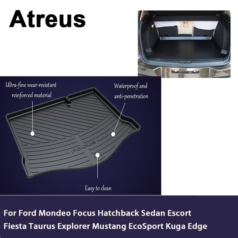 Atreus Car Trunk Cargo Blanket For Ford Mondeo Focus Hatchback Sedan Escort Fiesta Taurus Explorer Mustang EcoSport Kuga Edge цена