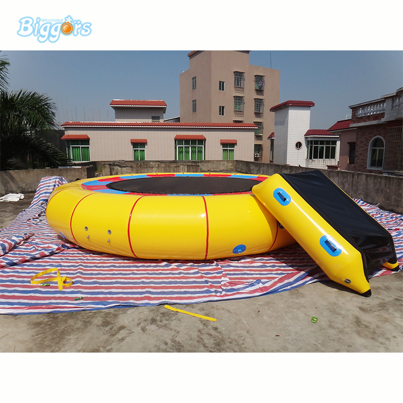 Water Park Inflatable Floating Jumping Trampoline Inflatable Water Games купить недорого в Москве