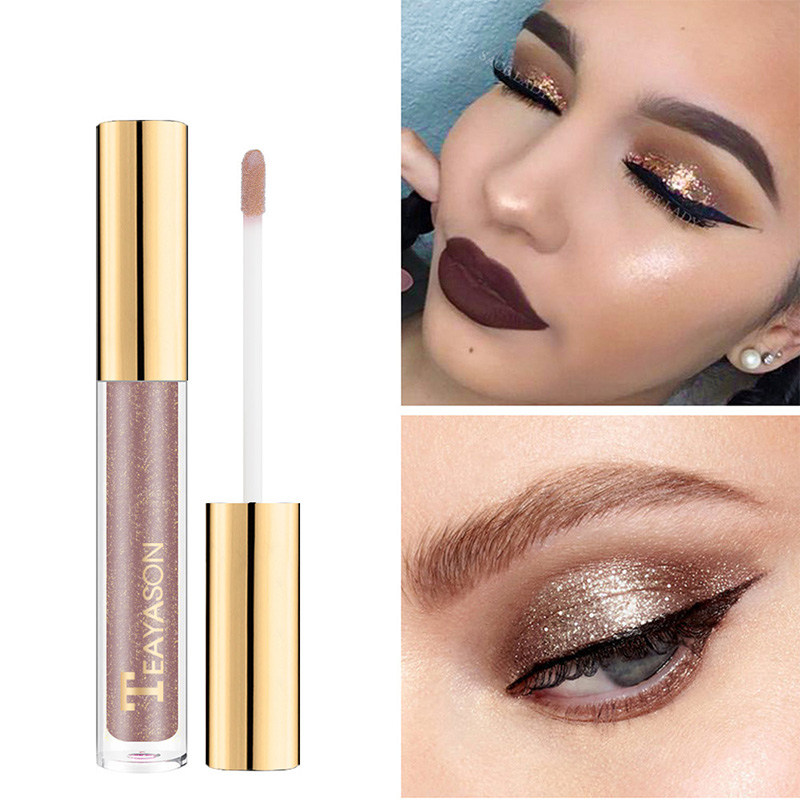 2019 NEW 8 Colors Highlighter Liquid Eyeshadow Glitter Shimmer Diamond Eye Shadow Pigment Night Clubs Princess Nude Eyes Makeup in Eye Shadow from Beauty Health