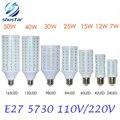 1 Pcs E27 E14 5730 5630 SMD LED Milho Bulbo AC 220 V AC 110 V 7 W 12 W 15 W 25 W 30 W 40 W 50 W Alta Luminosa Holofotes CONDUZIU a lâmpada de luz