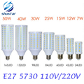 1 Unids E27 E14 5730 SMD 5630 LED Del Maíz Del Bulbo AC 220 V AC 110 V 7 W 12 W 15 W 25 W 30 W 40 W 50 W Proyector de Alta Luminosidad LED de luz de la lámpara