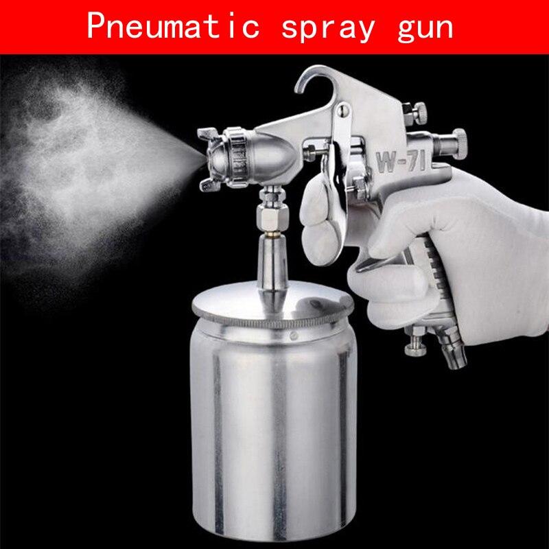 Portable hydrocone type W 71S Pneumatic spray gun with non corrosive alloy pot for Wooden Furniture car wall Air pump Spray Gun