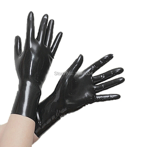 Image 3 - exotic  Sexy Lingerie unisex women men Short black red Latex Wrist Gloves cekc Zentai Fetish with no spliced line