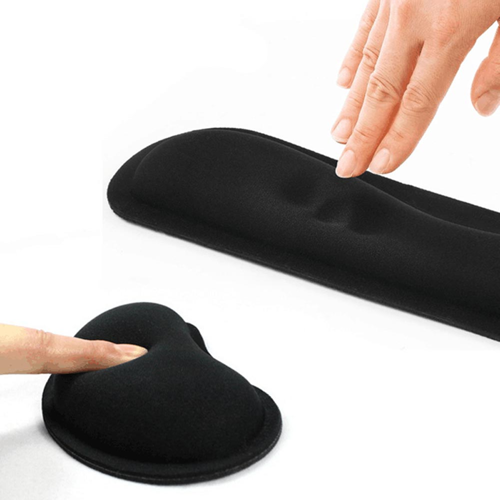 лучшая цена Durable Memory Foam Set Nonslip Mouse Wrist Support/ Keyboard Wrist Rest for Office Computer 8 SL@88