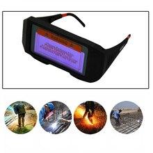 Затемнение сварочные очки защитные сварочные очки маска шлем анти-флог антибликовые очки 1 шт. Черный A/черный B